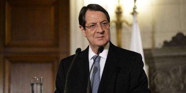 Cypriot President Nikos Anastasiadis visits the Greek Prime Minister Alexis Tsipras on April, 17. in...