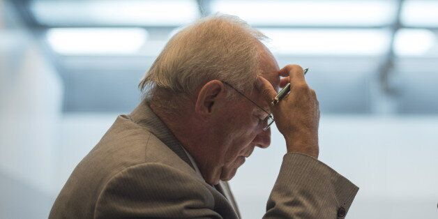 German Finance Minister Wolfgang Schaeuble attends a Christian Democratic Union (CDU) and Christian Social...