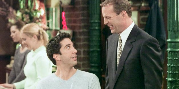 FRIENDS -- 'The One Where Ross Meets Elizabeth's Dad' Episode 21 -- Aired 4/27/2000 -- Pictured: (l-r)...