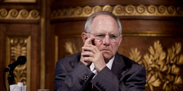 German Minister of Finance Wolfgang Schäuble and Danish Minister for Economic Affairs and the Interior...