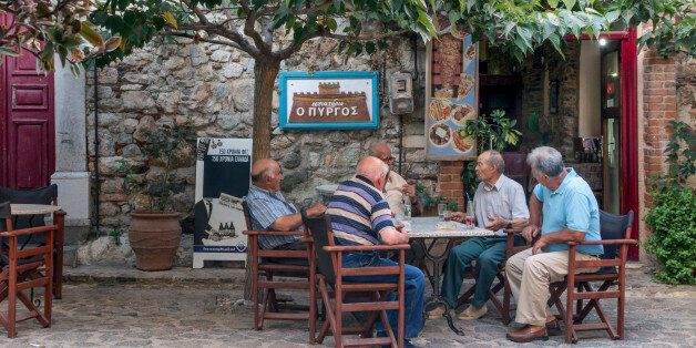 Chios Island, medieval village of Olympi,