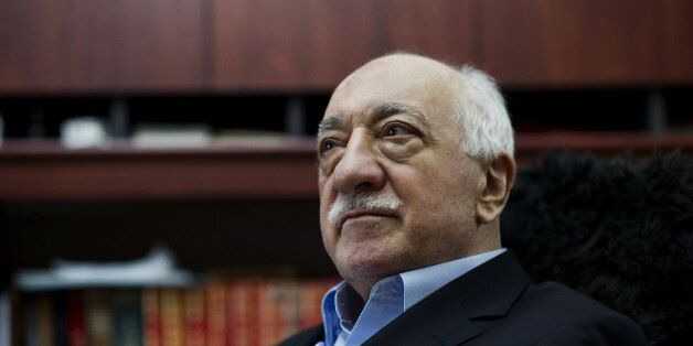 FILE - In this March 15, 2014 file photo, Turkish Muslim cleric Fethullah Gulen, sits at his residence...