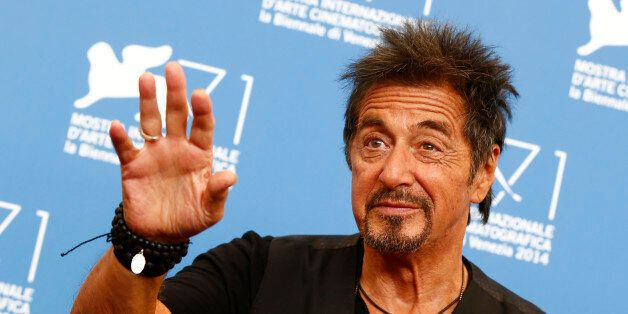 Cast member Al Pacino poses during the photo call for his two