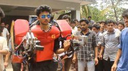 Ινδός φοιτητής κατασκεύασε λειτουργική πανοπλία του Iron