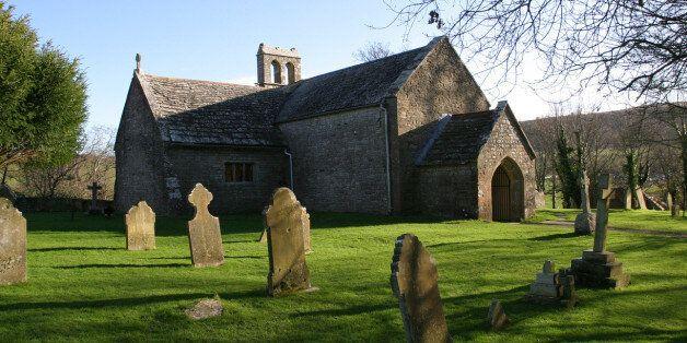 Old english stone church, Tyneham,