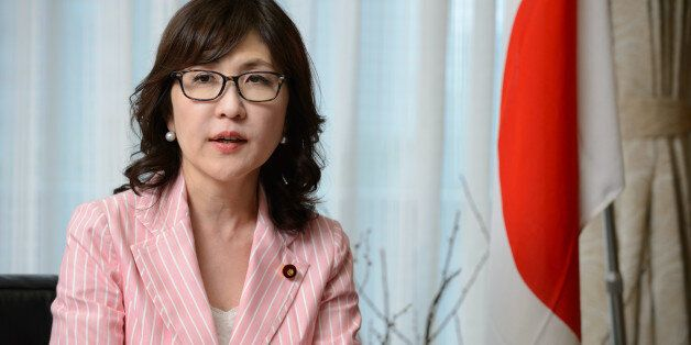 Tomomi Inada, chairwoman of the Policy Research Council of the Liberal Democratic Party of Japan (LDP),...