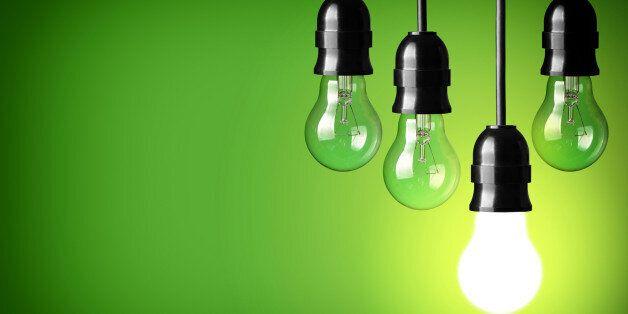 Idea concept on green