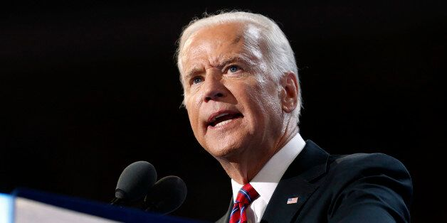 Vice President Joe Biden speaks during the third day session of the Democratic National Convention in...