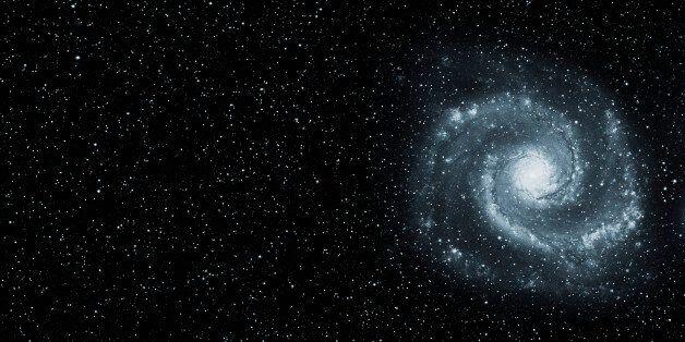 Spiral Galaxy in Starry