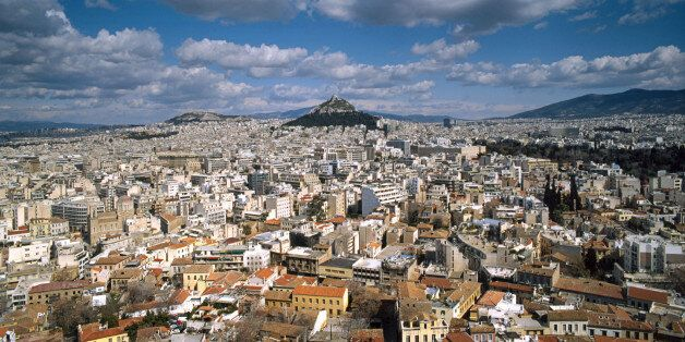 Athens panoramic view from