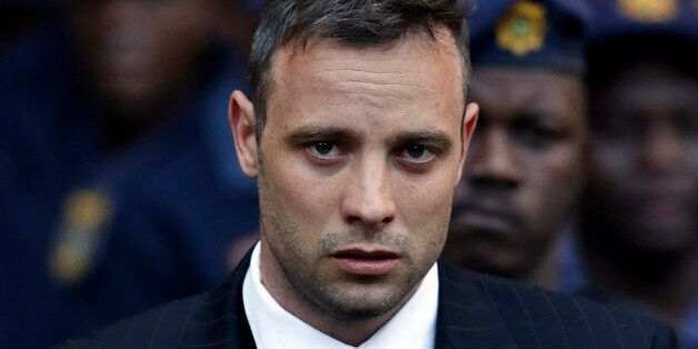 Oscar Pistorius leaves the High Court in Pretoria, South Africa, Wednesday, June 15, 2016, after his...