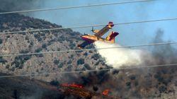 Υπό μερικό έλεγχο η φωτιά στην Κάρυστο. Σε ύφεση οι πυρκαγιές σε Κέα και