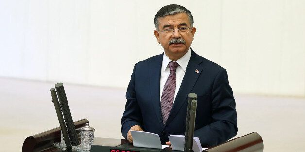 Ismet Yilmaz, the ruling Justice and Development Party's candidate and the Defense Minister in the outgoing...