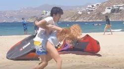 O τσακωμός της Lohan με τον Ρώσο σύντροφο της στη Μύκονο έγινε