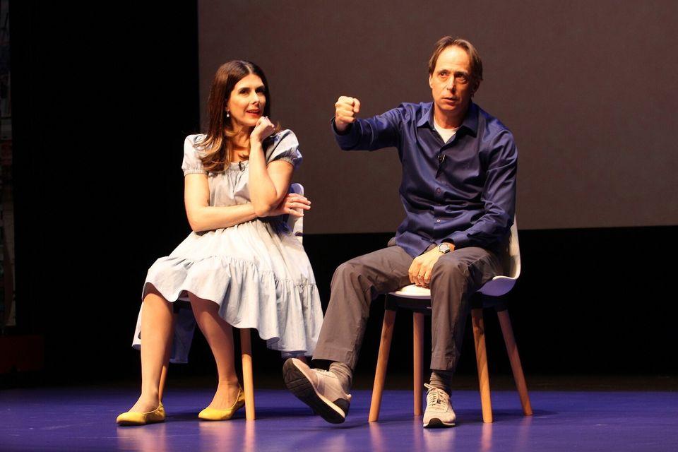 Pedro Cardoso e a esposa, Graziella Moretto, contracenaram emO Homem