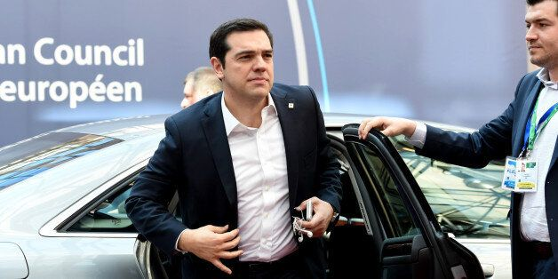 Greek Prime Minister Alexis Tsipras arrives for an EU summit in Brussels on Thursday, March 17, 2016....