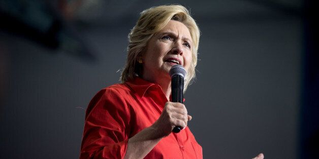 FILE - In this July 30, 2016 file photo, Democratic presidential candidate Hillary Clinton speaks in...