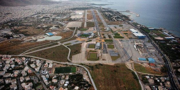 FILE - This March 3, 2008 file air photo shows the old, decommissioned Athens airport in the southern...