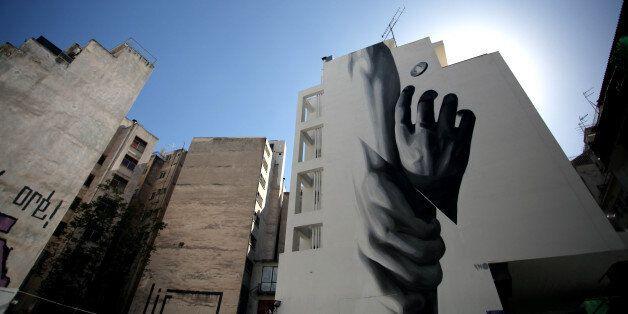 Graffiti in Athens city center, April 15, 2016 (Photo by Giorgos Georgiou/NurPhoto via Getty