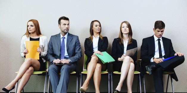 Business people waiting for job
