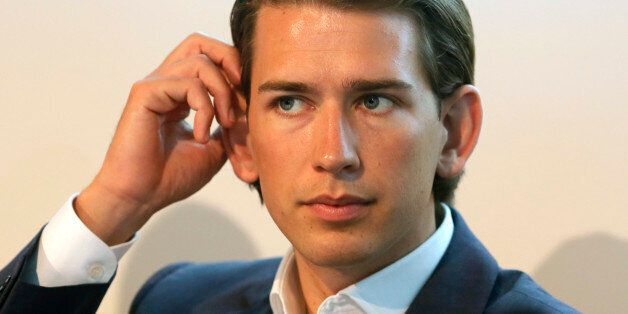 Austrian Foreign and Integration Minister Sebastian Kurz attends a news conference in Vienna July 28,...