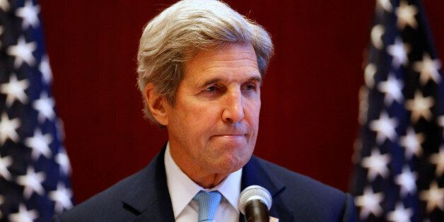 U.S. Secretary of State John Kerry attends a news conference at the sidelines of the ASEAN foreign ministers...
