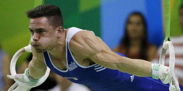 Gymnastics - Olympics Qualifier - Rio de Janeiro, Brazil - 18/4/2016 - Eleftherios Petrounias of Greece...
