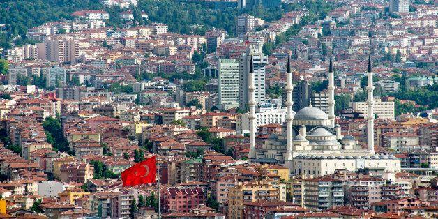 Two Symbols of Ankara Atakule Tower and Kocatepe