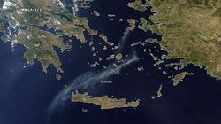 Φωτογραφία από τη NASA: Ο καπνός από τη φωτιά στη Χίο έφτασε στην