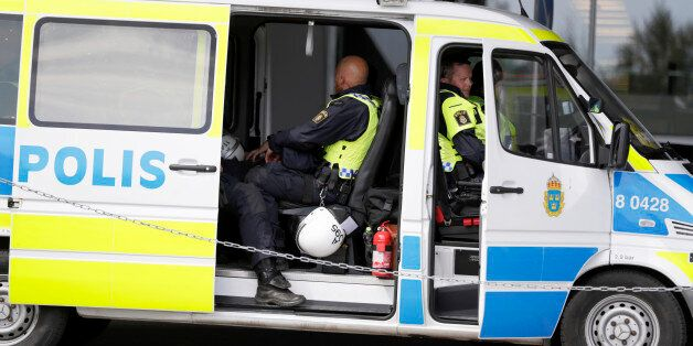 STOCKHOLM, SWEDEN - JULY 24: Police at work prior the allsvenskan match between Hammarby IF and AIK at...