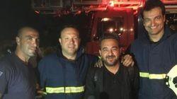 Ο Μάριος Γκιούρδας έσωσε ένα βρέφος και οκτώ άτομα στη φωτιά στον