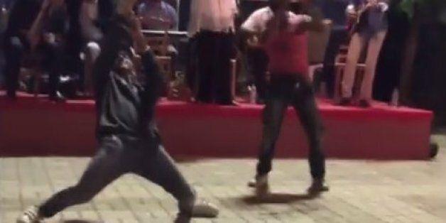 Το break dance με κλαρίνο σε πανηγύρι της Αρκαδίας που έγινε