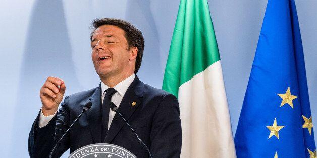 Italian Prime Minister Matteo Renzi speaks during an EU summit in Brussels on Wednesday, June 29, 2016....