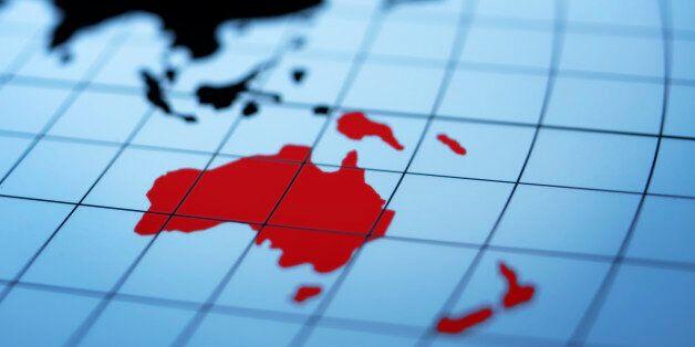 Map of eastern hemisphere highlighting