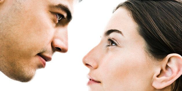 Couple face to face, close-up