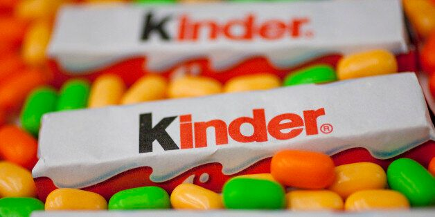 Ferrero SpA's Kinder chocolate bars and TicTac mints are arranged for a photograph in Washington, D.C.,...