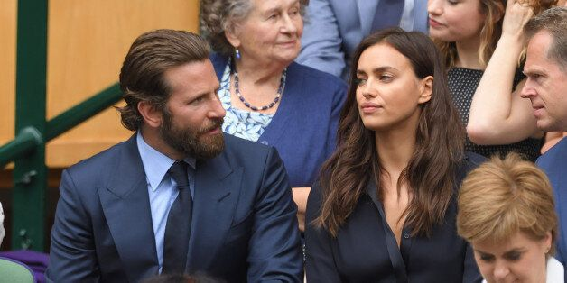LONDON, ENGLAND - JULY 10: Bradley Cooper and Irina Shayk attend the Men's Final of the Wimbledon Tennis...