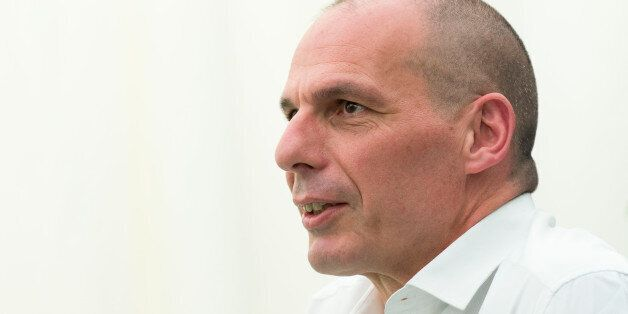 HAY-ON-WYE, WALES - MAY 30: Yanis Varoufakis, former finance minister of Greece, during the 2016 Hay...