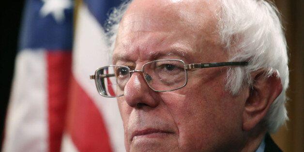 WASHINGTON, DC - JULY 06: Sen. Bernie Sanders (I-VT), participates in a news conference regarding genetically...