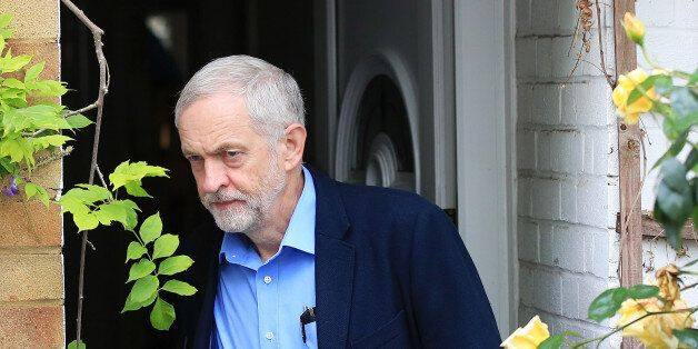 Britain's opposition Labour Party leader Jeremy Corbyn leaves his home in London, Britain, Jun2 30, 2016....