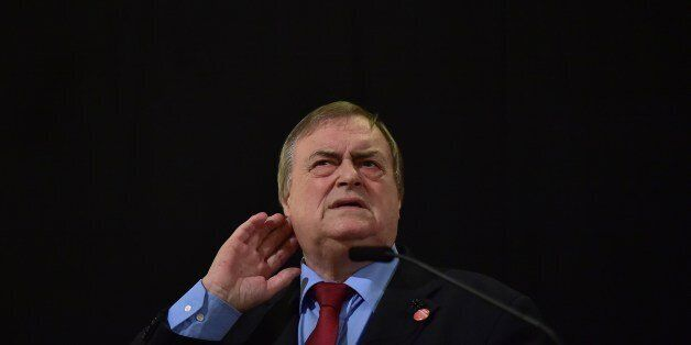 Former Labour Party deputy Prime Minister John Prescott speaks at a campaign event for Andy Burnham,...