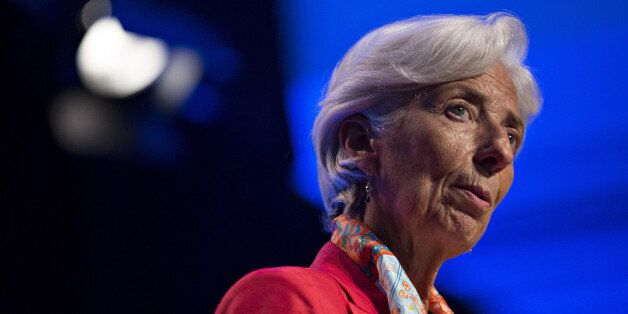Christine Lagarde, managing director of the International Monetary Fund (IMF), speaks during a Michel...