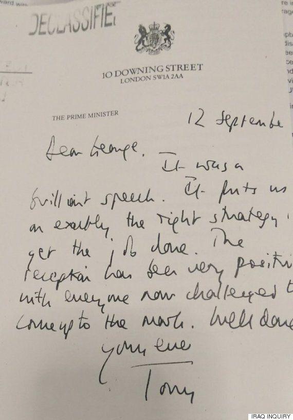 Δημοσιοποίηση επιστολών του Τόνι Μπλερ στον Τζορτζ Μπους για το