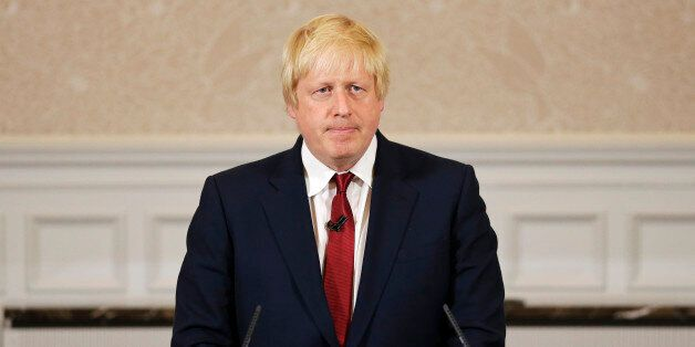 CORRECTS TO HE WILL NOT RUN - Former London mayor Boris Johnson announces that we will not run for leadership...