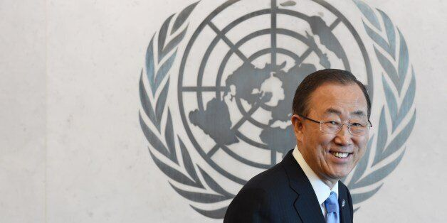 United Nations Secretary General Ban Ki-Moon May 12, 2014 at UN headquarters in New York after appointing...
