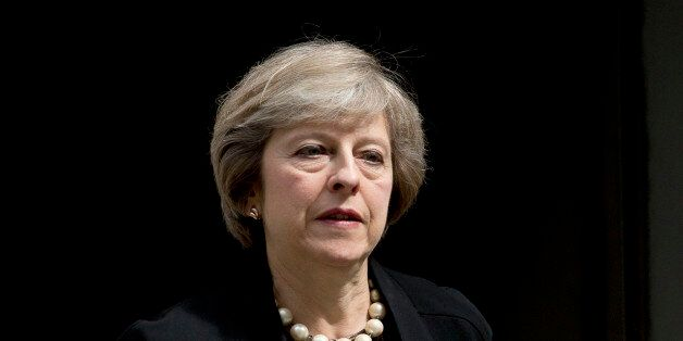 British Home Secretary and leadership candidate for Britain's ruling Conservative Party Theresa May leaves...