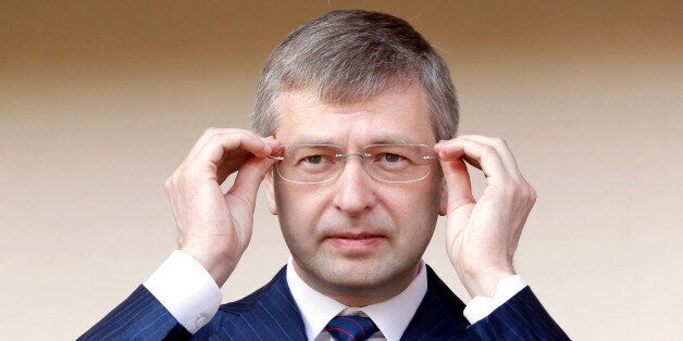President of the football club AS Monaco, Dmitry Rybolovlev attends the french league two soccer match...