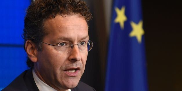 Dutch Finance Minister and President of Eurogroup, Jeroen Dijsselbloem, talks during an annual meeting...