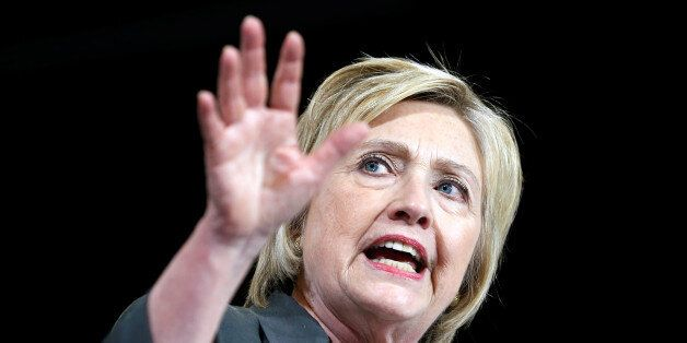 Democratic U.S. presidential candidate Hillary Clinton speaks during a campaign event at the North Carolina...