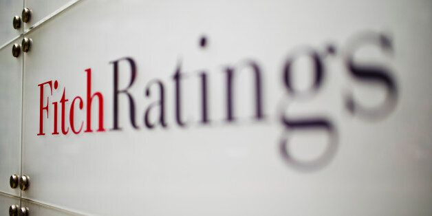 Frankfurt, Germany - August 14: Lettering of FitchRatings rating agency on August 14, 2015 in Frankfurt,...